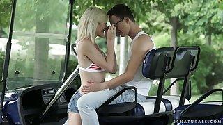 Beautiful anal sex with sensual bettor Zazie Skymm in the summer garden