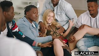 Kali Rose Gets Gangbanged By Black Men