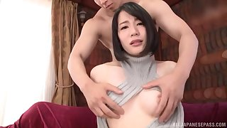 oiled with the addition of horny Asian Suzumura Airi adores hard sexual intercourse 'til both cum