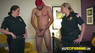 Buxom cops love so much to ride a huge fatty Arabian dig up