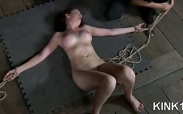 Starlet displayed in the basement and gets demolished bondage & discipline video