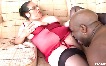 Good looking Renata likes when he drills her hairy pussy