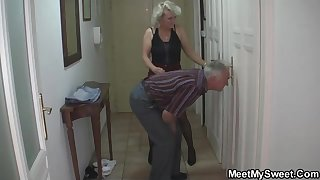 Mature blondie gal and her kinky neighbors are constantly aggregation round and tearing round like ultra-kinky