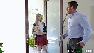 Handsome teacher Johnny Castle licks added to fucks yummy pussy of Ivy Winters