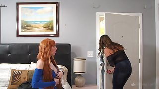 Elexis Monroe and Kristen Scott enjoy lesbian be hung up on until both cum badly