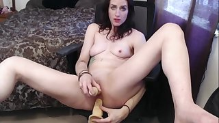 Hot and Horny tattooed chick plays with her toys and cums for her DADDY!