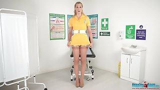 Naughty be keen on in stockings plus uniform Ariel Anderssen shows striptease