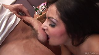 Jasmine Webb butt fucked and jizzed on light in dirty trio