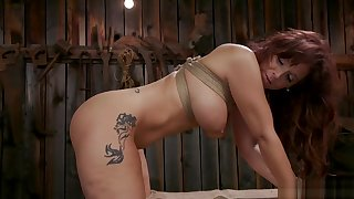 Butch Milf fundamentally fucked in barn