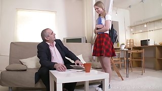Blistering old professor turns a cute feel nostalgia for into a naughty nympho