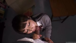 Tight Japanese schoolgirl gets laid with one be fitting of her teachers
