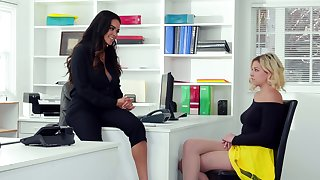 Office stake with ravishing girls Daisy Marie and Sophia Lux