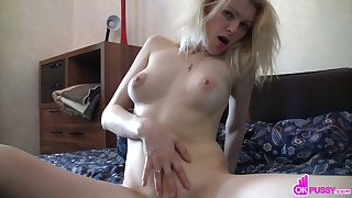 Fingering her of age tight sweet pussy