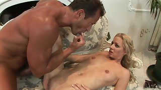 Girl's be sorry for licking concurring pussy solitarily needs a concurring workout