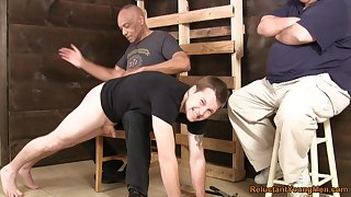 Gay lads exalt quartering and fucking each change off