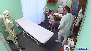 Horny nurse Mea Melone teases and rides a horny bastardize in the first place the bed