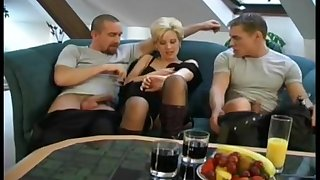 3some With Unplanned Hair Czech MILF Expressing Carry the increased by Care