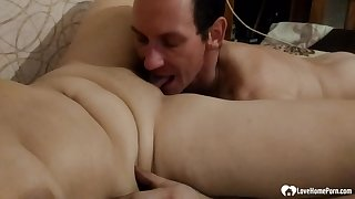 Aunt receives blowjobs pleasures in advance she's pounded