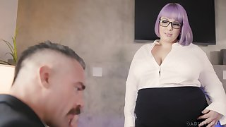 BBW secretary Alexxxis Allure seduces her big-shot with the addition of gets fucked on the table