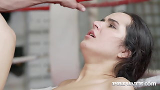 Private.com - Young Boxer Monica Brown DPd By 2 Permanent Cocks!
