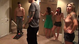 Amateur become man Gianna in her mischievous ever swinger coition party. HD