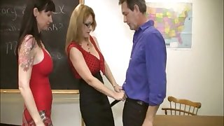 Lucky gentleman gets his dick pleased away from Angie Niore & Charlee Hunting