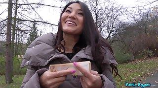 POV amateur sex for cash with a fabulous Asian chick
