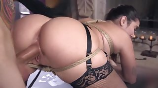 Karlee Grey got tied up and fucked BDSM