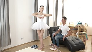 Ariel grace gets eaten out of doors blows her man and able-bodied rides him well