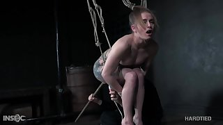 Exploitive tattooed whore with big booty Cora Moth is just made for hardcore BDSM