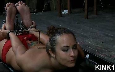 Mind-blowing sub gal Rain DeGrey in xxx sadism & masochism restrain bondage penalty